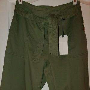 NWT Olive Green high rise skinny pants sz L